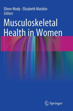Couverture de l'ouvrage Musculoskeletal Health in Women