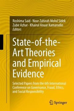 Couverture de l'ouvrage State-of-the-Art Theories and Empirical Evidence
