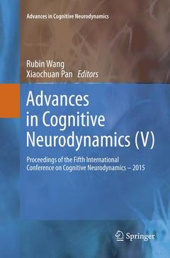 Couverture de l'ouvrage Advances in Cognitive Neurodynamics (V)