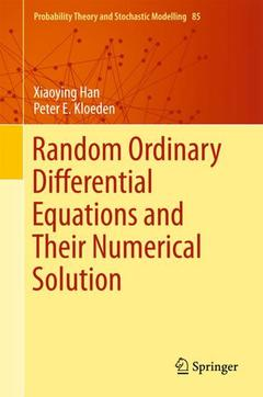 Couverture de l'ouvrage Random Ordinary Differential Equations and Their Numerical Solution