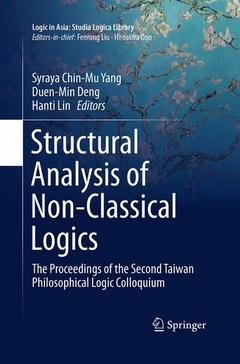 Couverture de l'ouvrage Structural Analysis of Non-Classical Logics