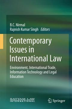 Couverture de l'ouvrage Contemporary Issues in International Law