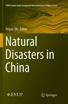 Couverture de l'ouvrage Natural Disasters in China