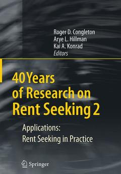 Couverture de l'ouvrage 40 years of research on rent seeking 2