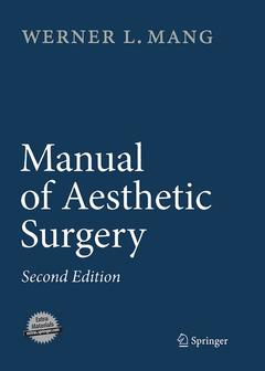Couverture de l'ouvrage Manual of aesthetic surgery with DVD