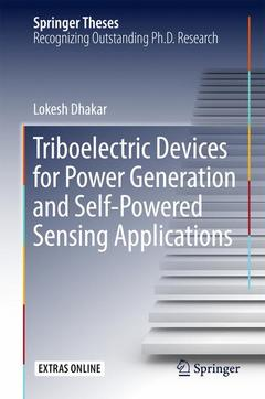 Cover of the book Triboelectric Devices for Power Generation and Self-Powered Sensing Applications
