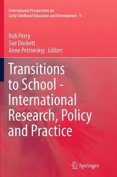 Cover of the book Transitions to School - International Research, Policy and Practice