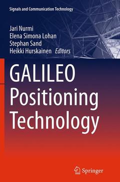 Couverture de l'ouvrage GALILEO positioning technology