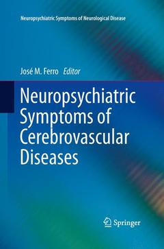 Couverture de l'ouvrage Neuropsychiatric Symptoms of Cerebrovascular Diseases
