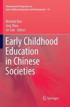 Couverture de l'ouvrage Early Childhood Education in Chinese Societies