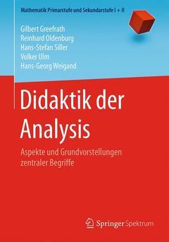 Couverture de l'ouvrage Didaktik der Analysis