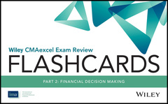 Couverture de l'ouvrage Wiley CMAexcel Exam Review 2017 Flashcards : Part 2, Financial Reporting, Planning, Performance, and Control