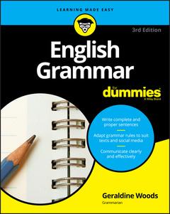Couverture de l'ouvrage English Grammar For Dummies