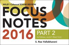 Couverture de l'ouvrage Wiley CIAexcel Exam Review 2016 Focus Notes