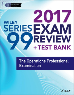 Couverture de l'ouvrage Wiley FINRA Series 99 Exam Review 2017