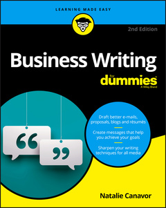 Couverture de l'ouvrage Business Writing For Dummies