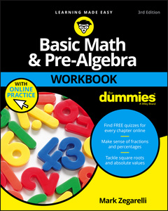 Couverture de l'ouvrage Basic Math and Pre-Algebra Workbook For Dummies