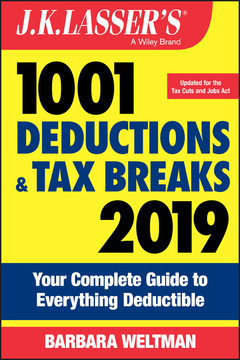Couverture de l'ouvrage J.K. Lasser′s 1001 Deductions and Tax Breaks 2019