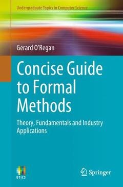 Couverture de l'ouvrage Concise Guide to Formal Methods