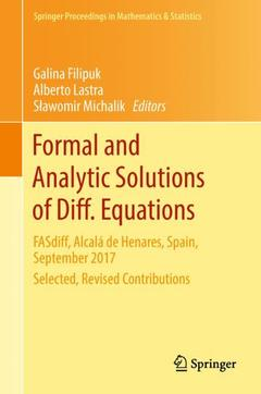 Couverture de l'ouvrage Formal and Analytic Solutions of Diff. Equations