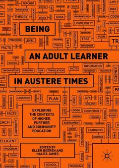 Cover of the book Being an Adult Learner in Austere Times