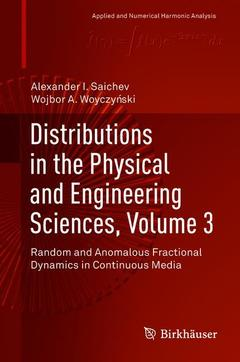 Couverture de l'ouvrage Distributions in the Physical and Engineering Sciences, Volume 3