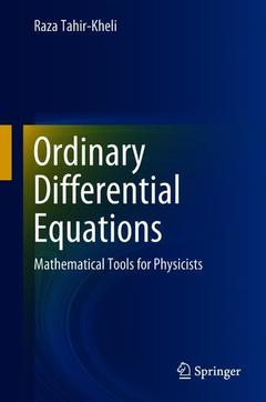 Couverture de l'ouvrage Ordinary Differential Equations