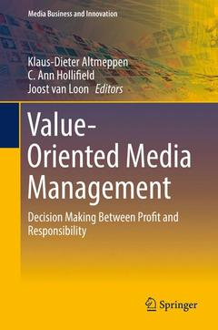 Cover of the book Value-Oriented Media Management