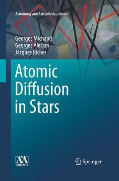 Couverture de l'ouvrage Atomic Diffusion in Stars