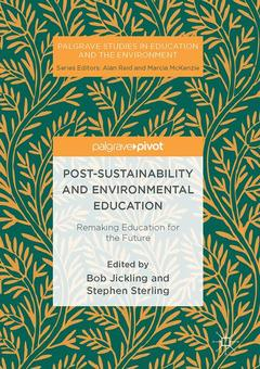 Couverture de l'ouvrage Post-Sustainability and Environmental Education