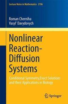 Couverture de l'ouvrage Nonlinear Reaction-Diffusion Systems