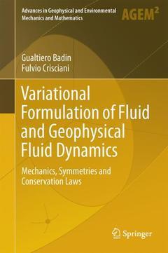 Couverture de l'ouvrage Variational Formulation of Fluid and Geophysical Fluid Dynamics