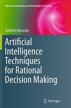Couverture de l'ouvrage Artificial Intelligence Techniques for Rational Decision Making