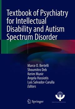 Couverture de l'ouvrage Textbook of Psychiatry for Intellectual Disability and Autism Spectrum Disorder