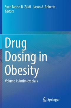 Couverture de l'ouvrage Drug Dosing in Obesity