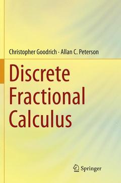 Couverture de l'ouvrage Discrete Fractional Calculus