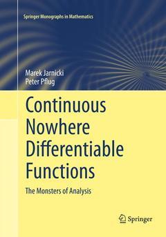Couverture de l'ouvrage Continuous Nowhere Differentiable Functions