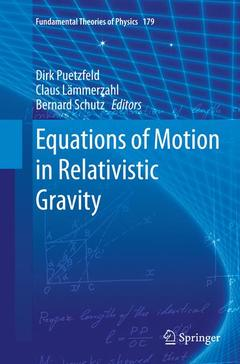 Couverture de l'ouvrage Equations of Motion in Relativistic Gravity