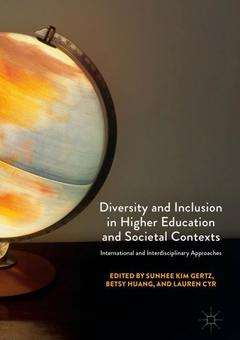 Couverture de l'ouvrage Diversity and Inclusion in Higher Education and Societal Contexts