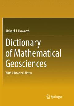 Couverture de l'ouvrage Dictionary of Mathematical Geosciences