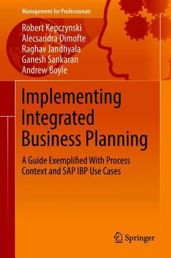 Couverture de l'ouvrage Implementing Integrated Business Planning