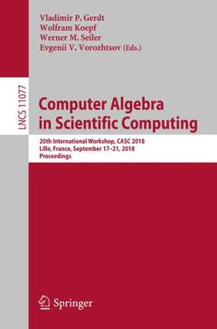 Couverture de l'ouvrage Computer Algebra in Scientific Computing