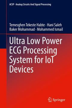 Cover of the book Ultra Low Power ECG Processing System for IoT Devices