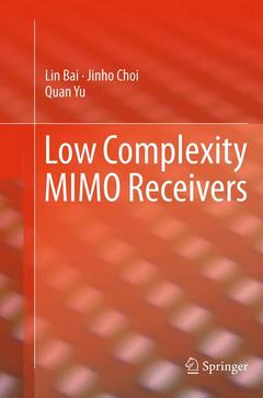 Couverture de l'ouvrage Low Complexity MIMO Receivers