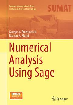 Couverture de l'ouvrage Numerical Analysis Using Sage