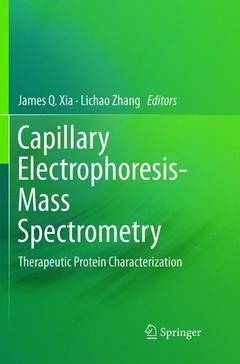 Couverture de l'ouvrage Capillary Electrophoresis-Mass Spectrometry