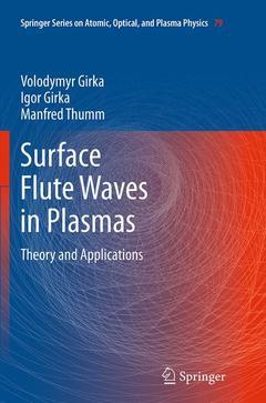 Couverture de l'ouvrage Surface Flute Waves in Plasmas