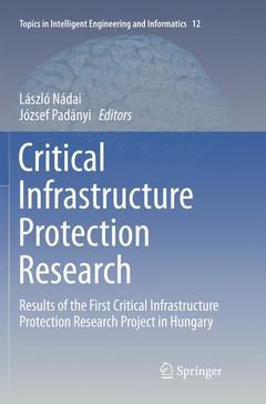 Couverture de l'ouvrage Critical Infrastructure Protection Research