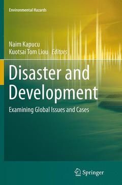 Couverture de l'ouvrage Disaster and Development