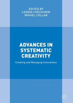 Couverture de l'ouvrage Advances in Systematic Creativity